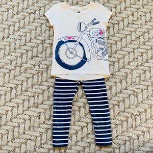 Tea bike shirt & stripe pants